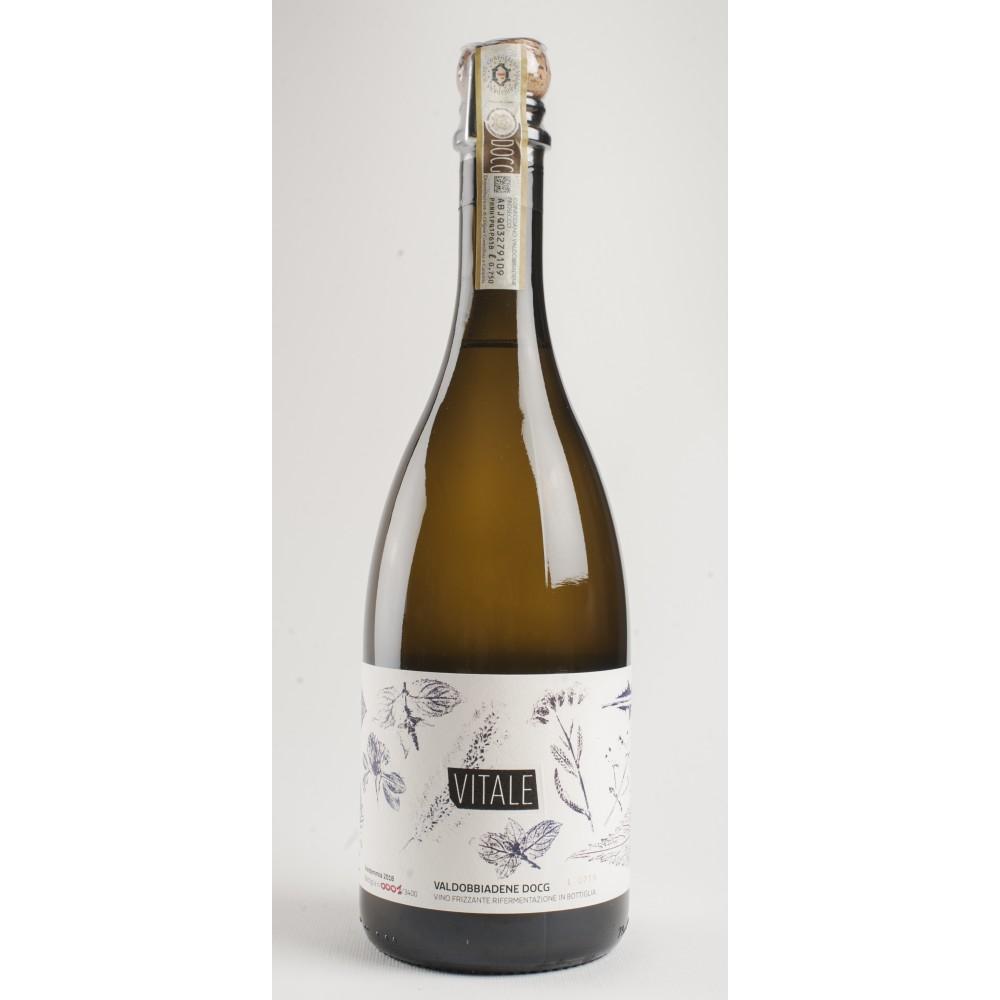 Vitale, Prosecco col fondo, Prosecco Valdobbiadene DOCG. Vino Naturale.